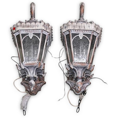 (2 Pc) Kichler Tornai Style Outdoor Wall Lights