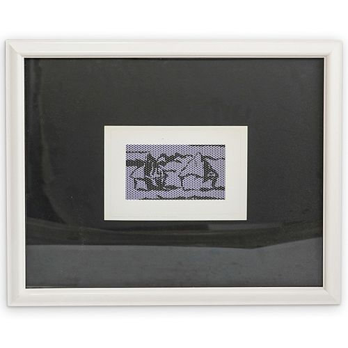 """Roy Lichtenstein (1923-1997) """"Haystack"""" Offset Litho"""