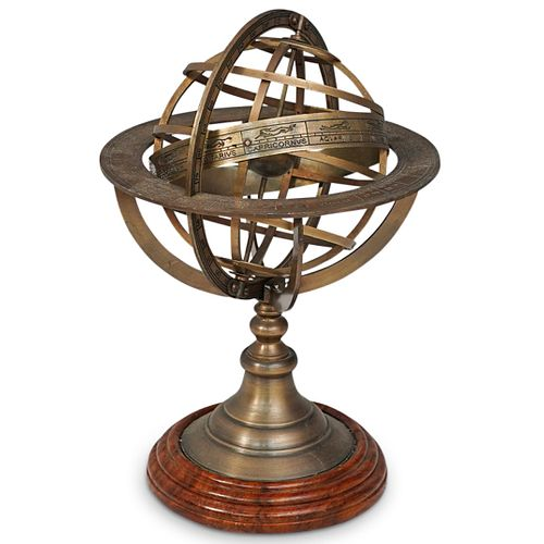 French G. Gobille Brass Armillary Sphere
