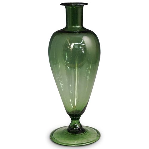 Murano Green Glass Urn