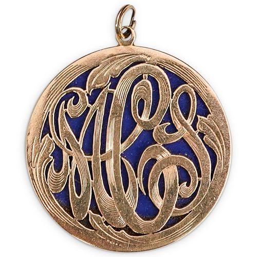 14K Gold Monogrammed Pendant