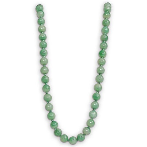 12K and Jade Bead Necklace