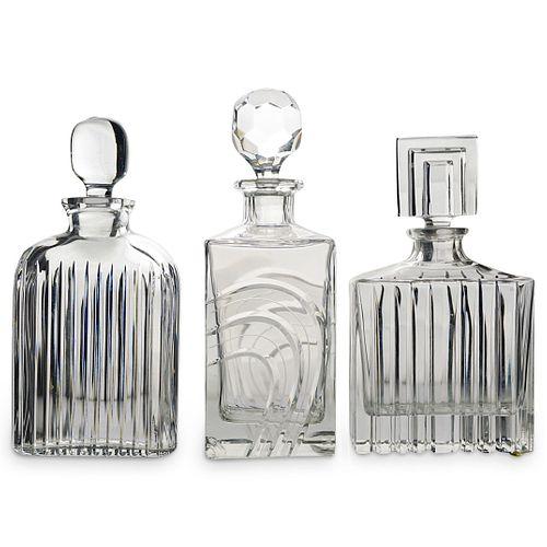 (3 Pc) Liquor Glass Decanter Set