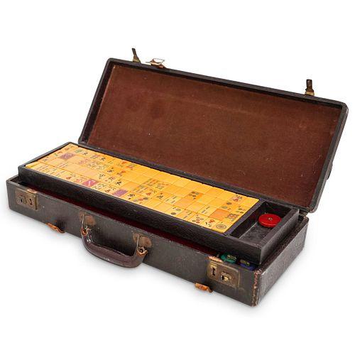 Chinese Bakelite Mahjong Set