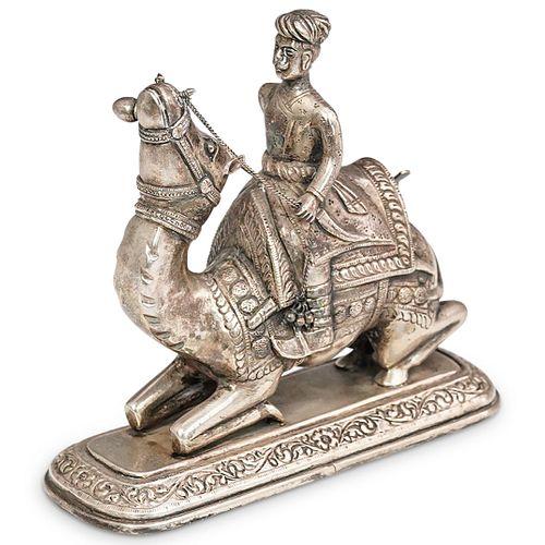 Punjabi Man On Camel Figurine