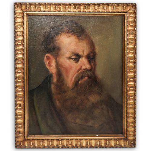 Male Portrait Oil Painting On Canvas