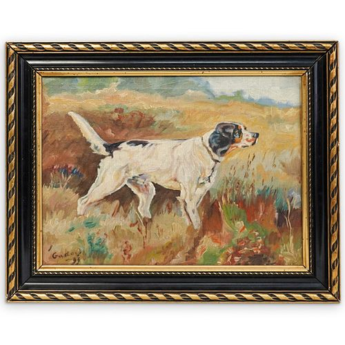 English Hunting Dog Oil Painting