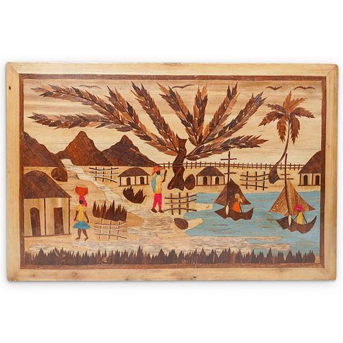 Mixed Media Haitian Painting