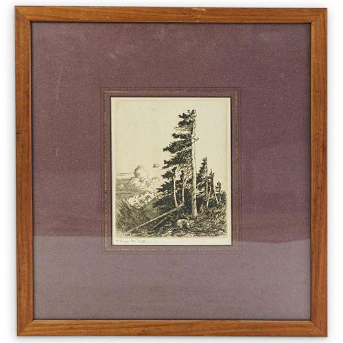 George Elbert Burr Drypoint Etching