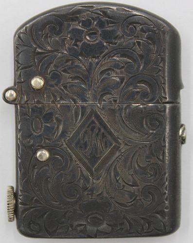 STERLING. Nassau Sterling Hand Engraved Lighter.