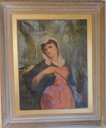 ANTIQUE PORTRAIT OF WOMAN