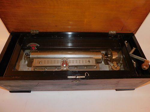 12 TUNE SWISS CYLINDER MUSIC BOX
