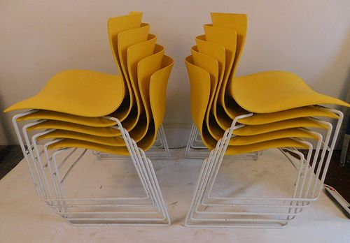 SET 10 KNOLL OFFICE CHAIRS