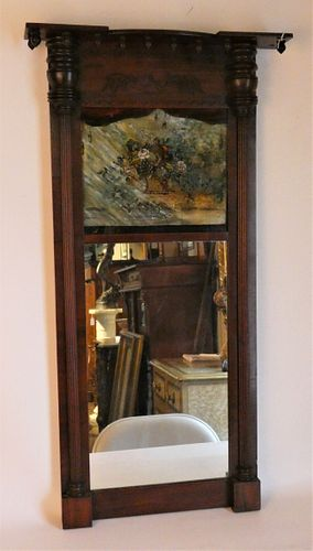 FEDERAL PAINTED WALL MIRROR