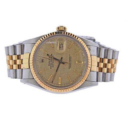 Rolex Datejust 18k Gold Steel Watch 16013