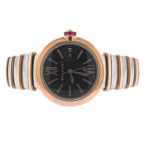 Bvlgari Bulgari Lucea Rose Gold Steel Watch LUP33SG
