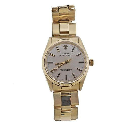 Rolex Oyster 14k Gold Watch 1005