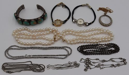 JEWELRY. Assorted Gold and Silver Jewelry.