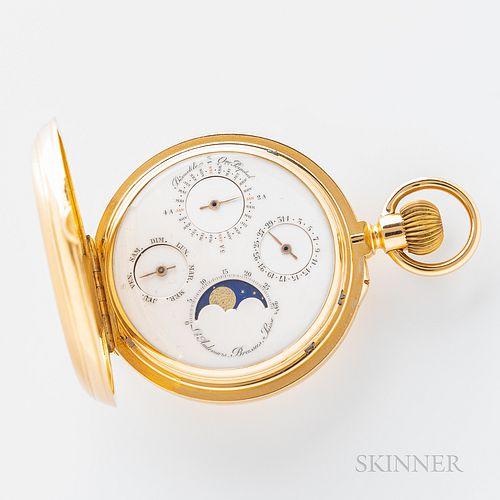 Louis Audemars No. 11747 18kt Gold Hunter-case Double-faced Astronomical Watch