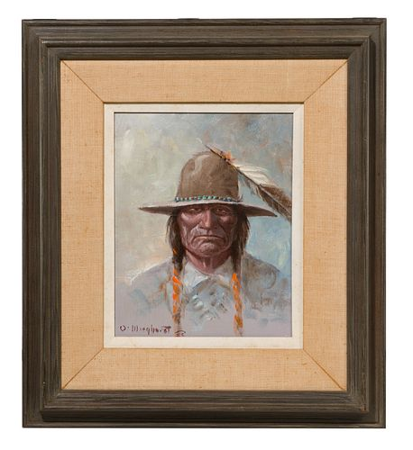 Olaf Weighorst (American, 1899-1988) 'Crow Indian' Oil on Board