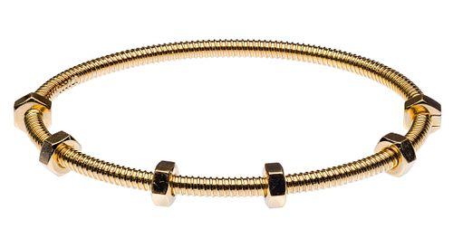 Cartier 18k Yellow Gold 'Ecrou de Cartier' Bracelet