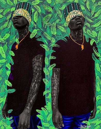 Paul Ayiwahu (Nigerian, b. 1995) Legacy Brothers
