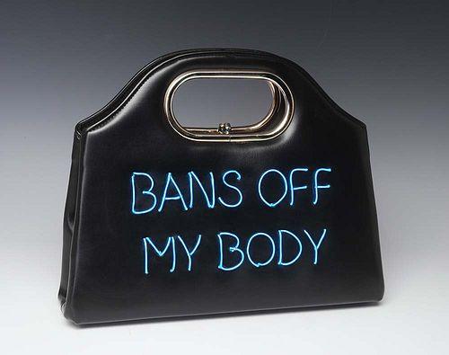Michele Pred (Swedish American, b. 1966) Bans off My Body