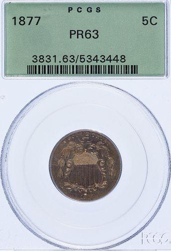 1877 5c PR-63 PCGS