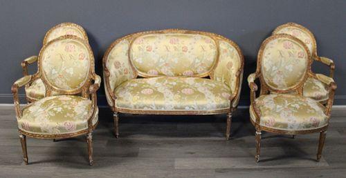 Antique & Fine Quality 5 Piece Louis XV1 Style