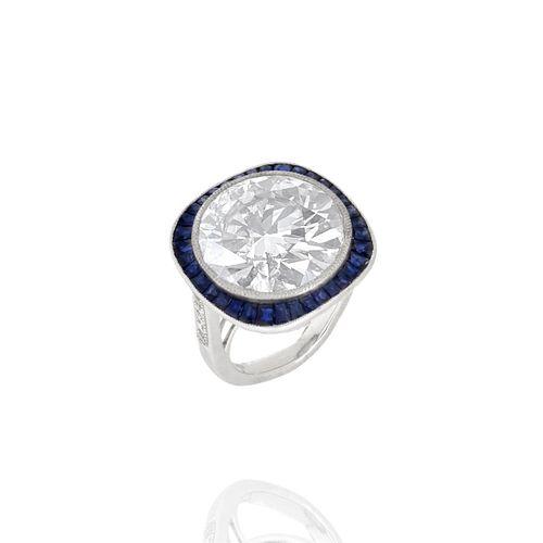 16.60 Carat Diamond and Platinum Ring