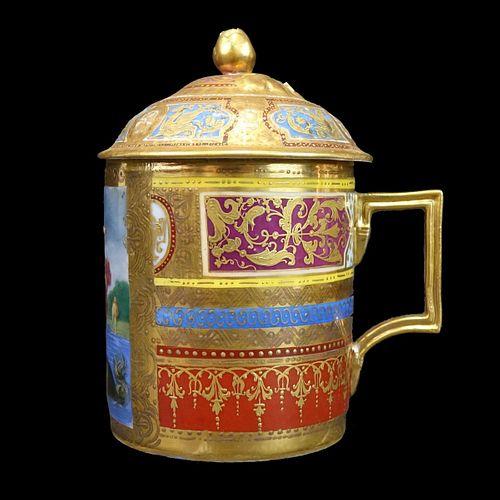 Royal Vienna Lidded Cup