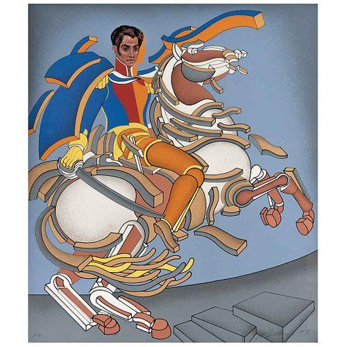 "ARNOLD BELKIN, Simón Bolívar, Firmada, Serigrafía P. A., 66.5 x 56.5 cm | ARNOLD BELKIN, Simón Bolívar, Signed, Serigraph P. A., 26.1 x 22.2"" (66.5 x"