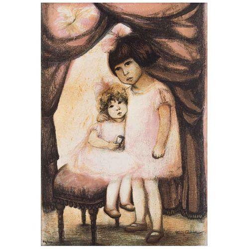 "FANNY RABEL, Sin título, Firmada, Litografía 46 / 100, 53 x 36 cm | FANNY RABEL, Untitled, Signed, Lithograph 46 / 100, 20.8 x 14.1"" (53 x 36 cm)"