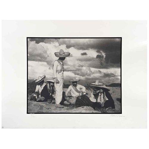 GABRIEL FIGUEROA, Enemigos, 1933, Firmada y fechada 90, Fotoserigrafía 8/300, 56 x 76.5 cm, con sello. | GABRIEL FIGUEROA, Enemigos, 1933, Signed and