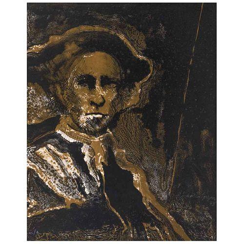FRANCISCO CORZAS, Guerrero de nostalgias, Firmada y fechada 73, Litografía H C / Q, 51 x 41 cm | FRANCISCO CORZAS, Guerrero de nostalgias, Signed and