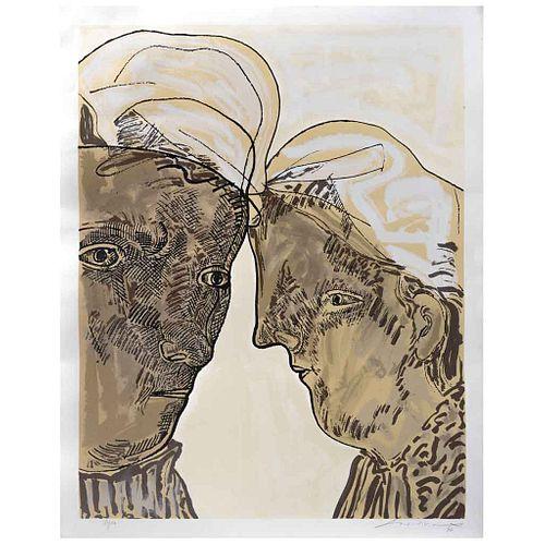 JOSÉ LUIS CUEVAS, Diálogo, Firmada y fechada 96, Serigrafía 33 / 100, 89 x 69.5 cm | JOSÉ LUIS CUEVAS, Diálogo, Signed and dated 96, Serigraph 33 / 10