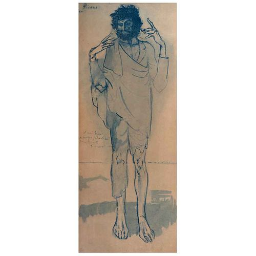 PABLO PICASSO, Loco, Firmada y fechada 1934, Litografía 150 / 500, 80 x 31.5 cm | PABLO PICASSO, Loco, Signed and dated 1934, Lithography 150 / 500, 3