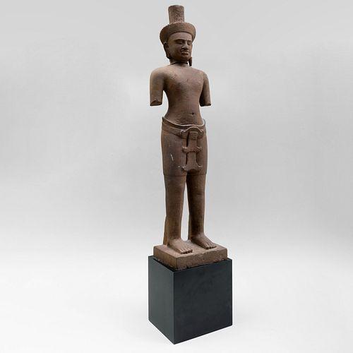 Khmer Stone Figure of Shiva