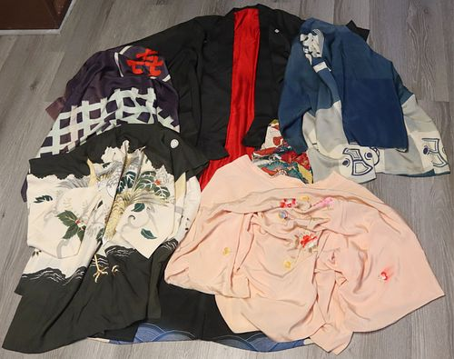 Grouping of (5) Assorted Asian Robes/Kimonos.