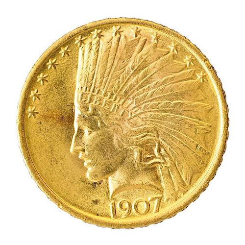 U.S. 1907 $10.00 GOLD COIN