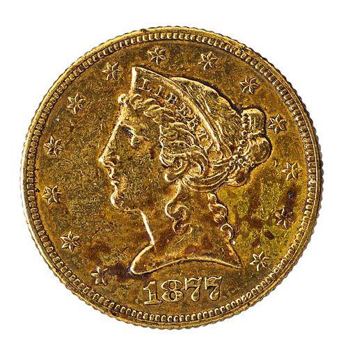 U.S. 1877 $5.00 GOLD COIN
