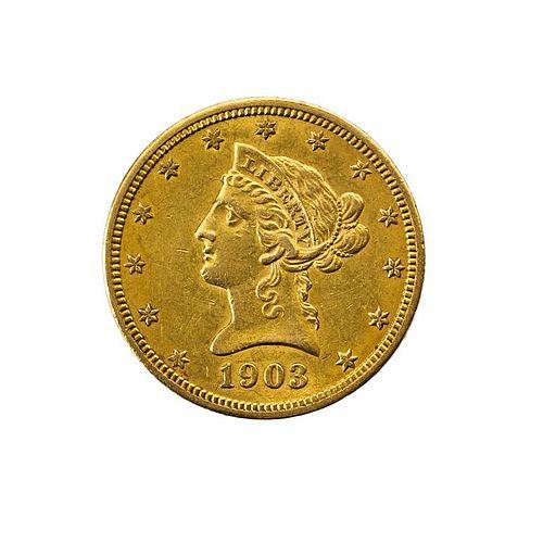 U.S. 1903-O $10.00 GOLD COIN, ETC.