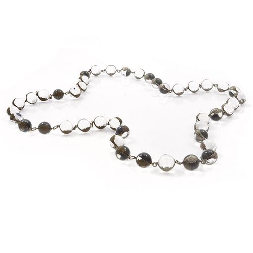 """Rock Crystal, Silver """"Pools of Light"""" Necklace"""