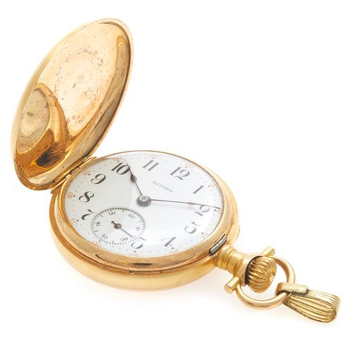 Illinois Diamond, 14k Yellow Gold Pocket Watch