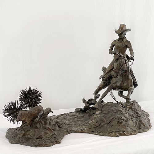 John W. LaPrade (b.1951 American) Bronze Sculpture