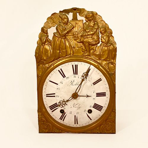 French Brass Angelus Wall Clock