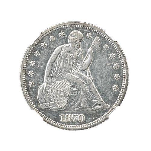 1870 SEATED LIBERTY $1.00