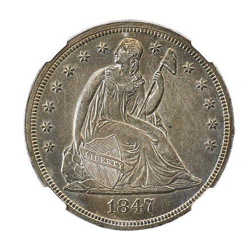 1847 SEATED LIBERTY $1.00