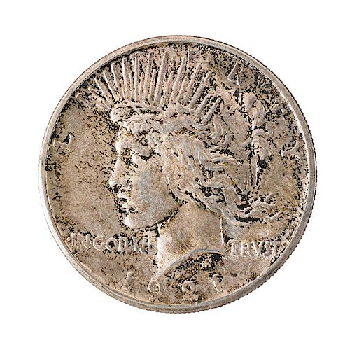 U.S. 1921 HIGH RELIEF PEACE $1.00 COIN