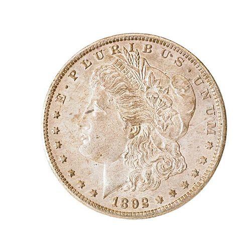 U.S. 1892-CC MORGAN SILVER $1.00 COIN